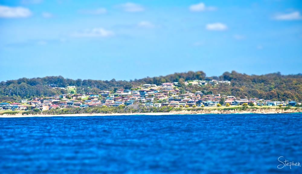 View of Kianga from the sea