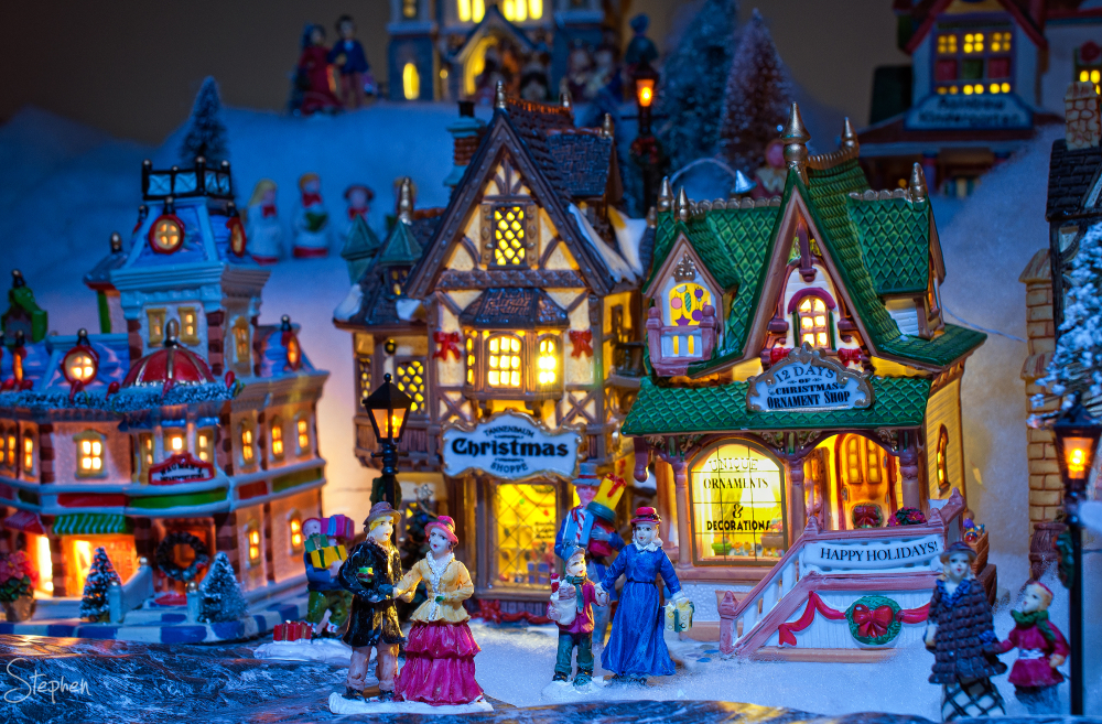 Christmas village miniature