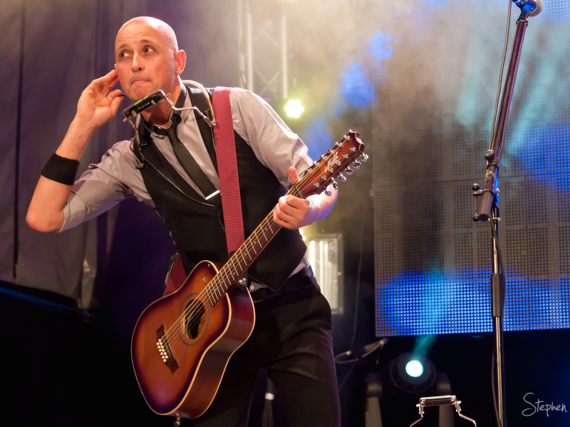 Diesel performs in Civic Square on New Year