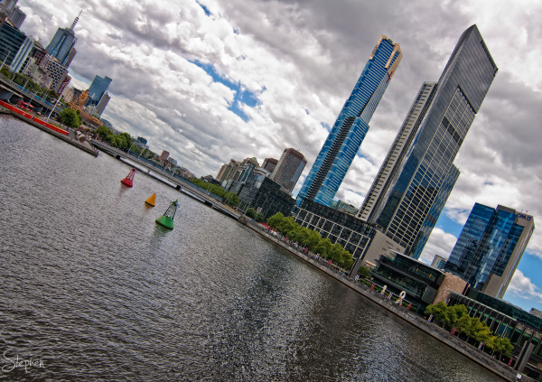 View over the Yarra River towards Southbank