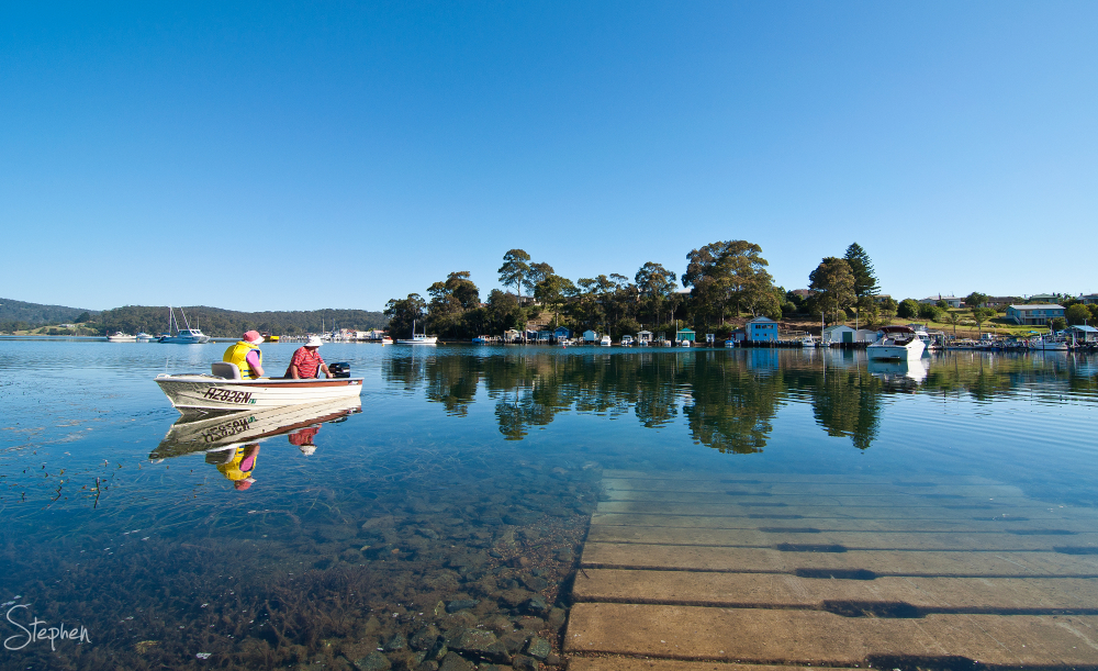 Boating on the Wagonga Inlet at Narooma