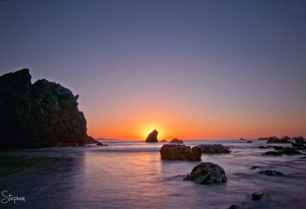 Dawn over the Glasshouse Rocks near Narooma