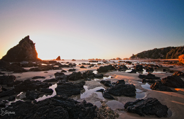 Sunrise at the Glasshouse Rocks near Narooma