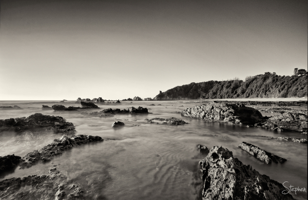 Early morning at the Glasshouse Rocks near Narooma