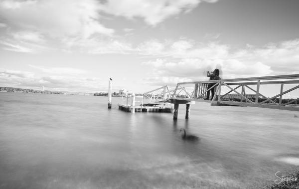 Jetty near Regatta Point on Lake Burley Griffin