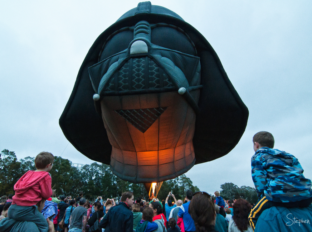 Darth Vader at Canberra Balloon festival
