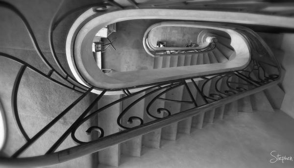 M.C. Escher spiral