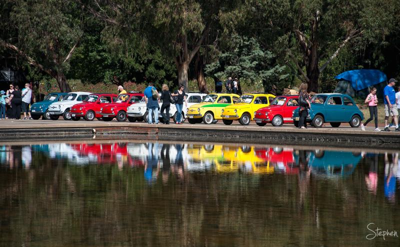 Fiat 500 cars on show at Auto Italia