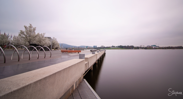 View at Commonwealth Place on Lake Burley Griffin