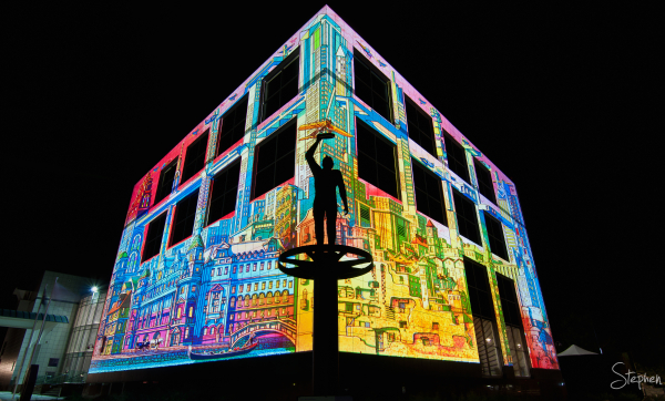 Questacon Science Centre lights up for Enlighten