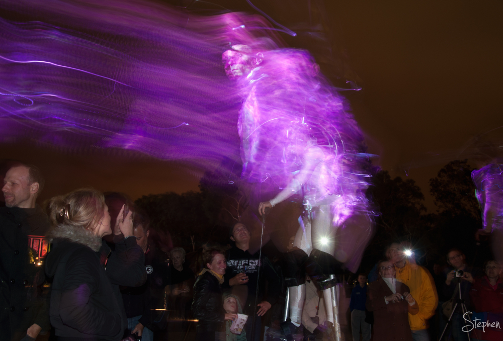 Cyborgs on the march at Enlighten in Canberra