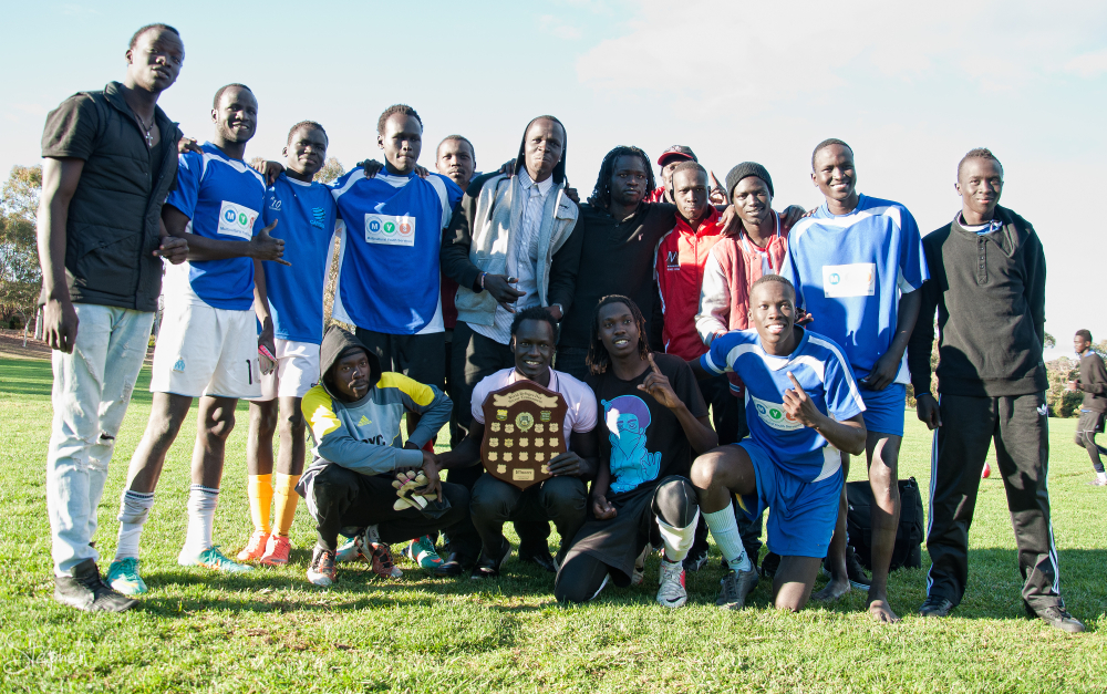 South Sudanese win World Refugee Day soccer final