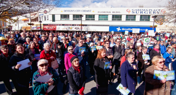 Rally for Renewables in Garema Place