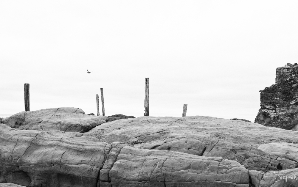 Old jetty ruins at Potato Point
