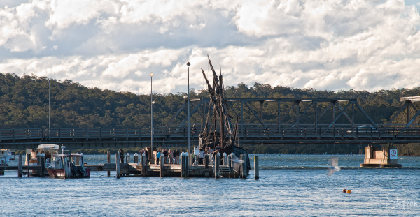 Caravel 'Notorious' at the wharf in Batemans Bay