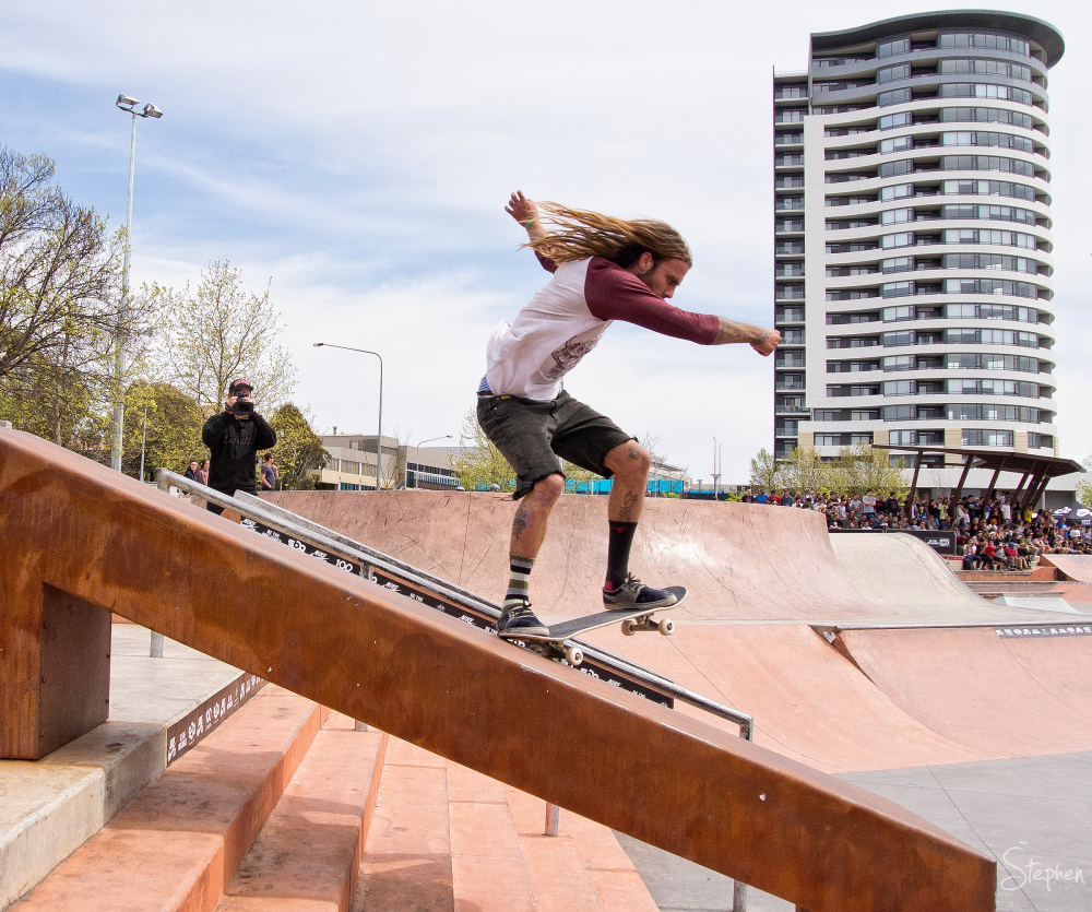 Belcopalooza skateboarding at Belconnen skatepark