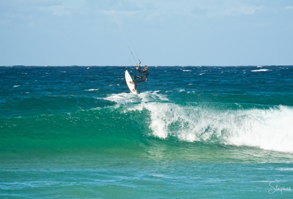 Kiteboarding at Kianga Beach