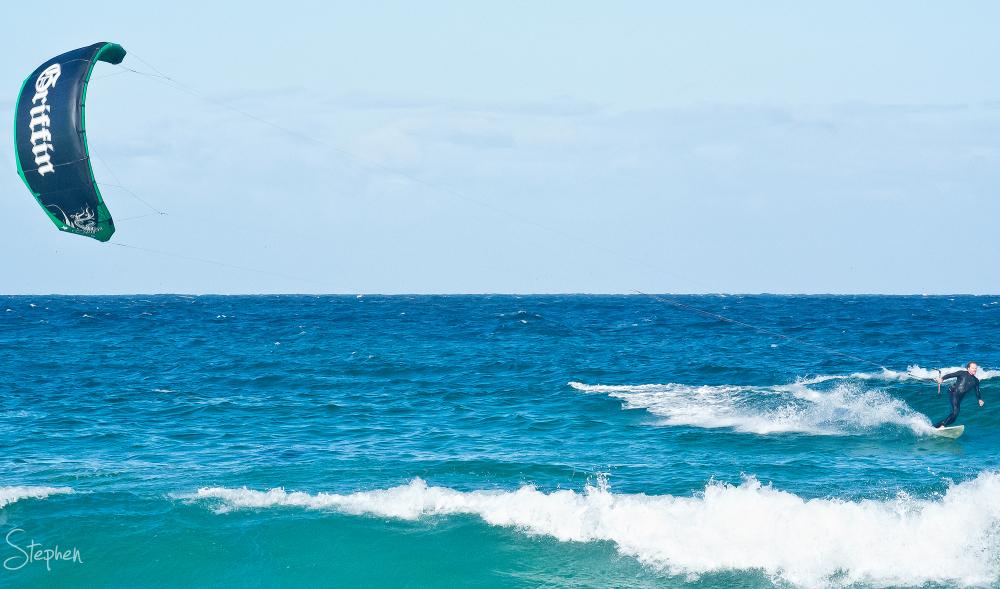 Kiteboarding at Kianga Beach