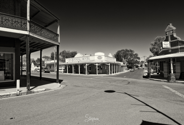 City centre in the town of Gulgong