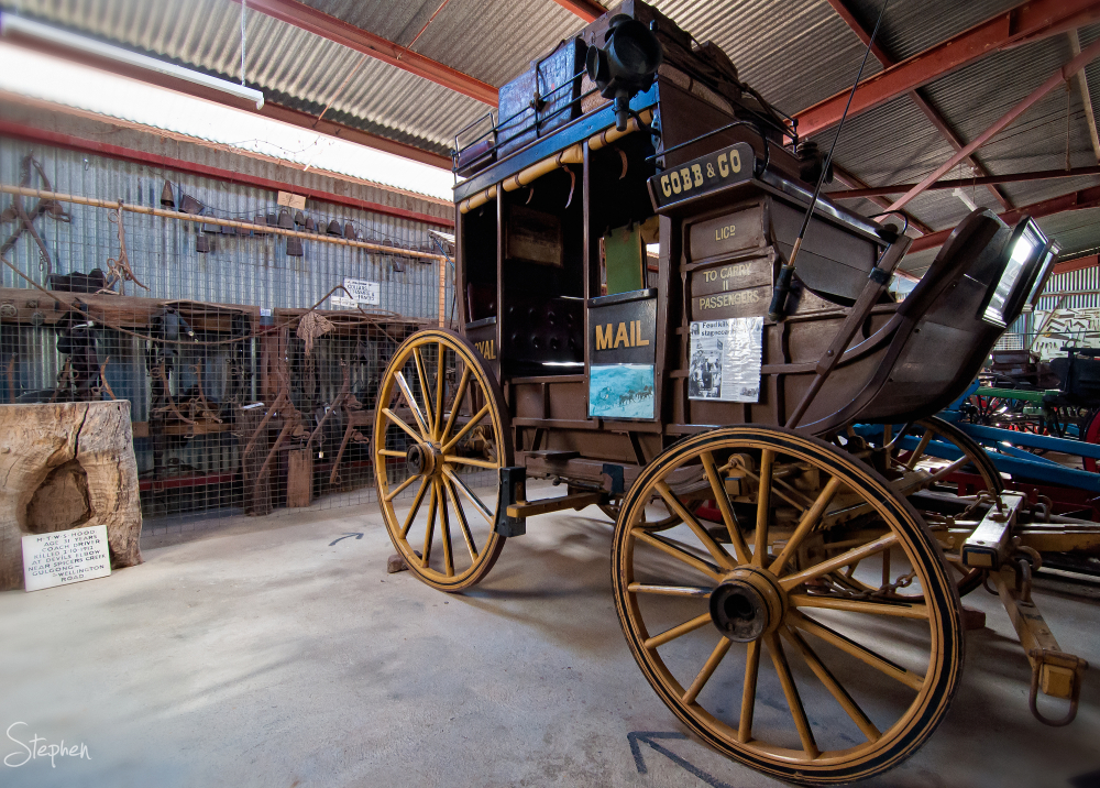 Cobb & Co stage coach at Gulgong Museum