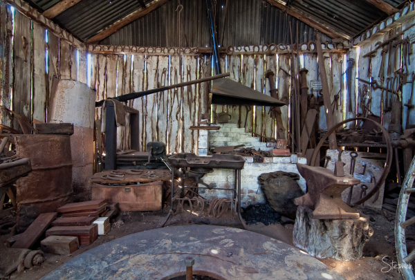 Blacksmith's shop at the Gulgong Pioneers Museum