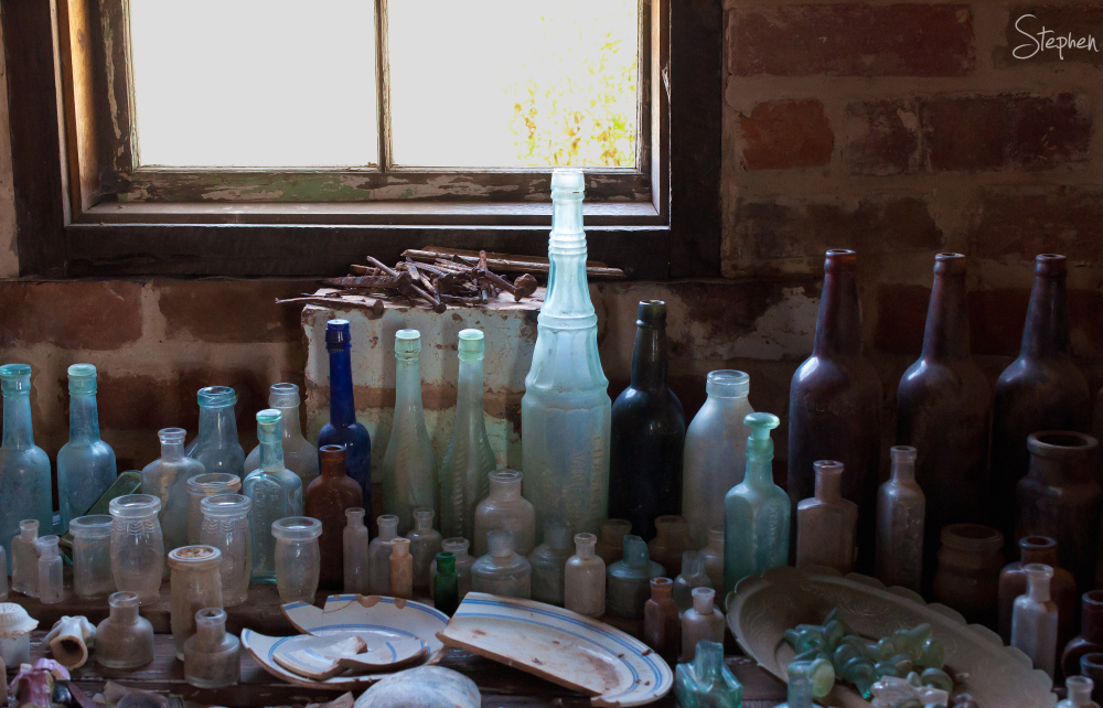 Antique bottle collection in Hill End