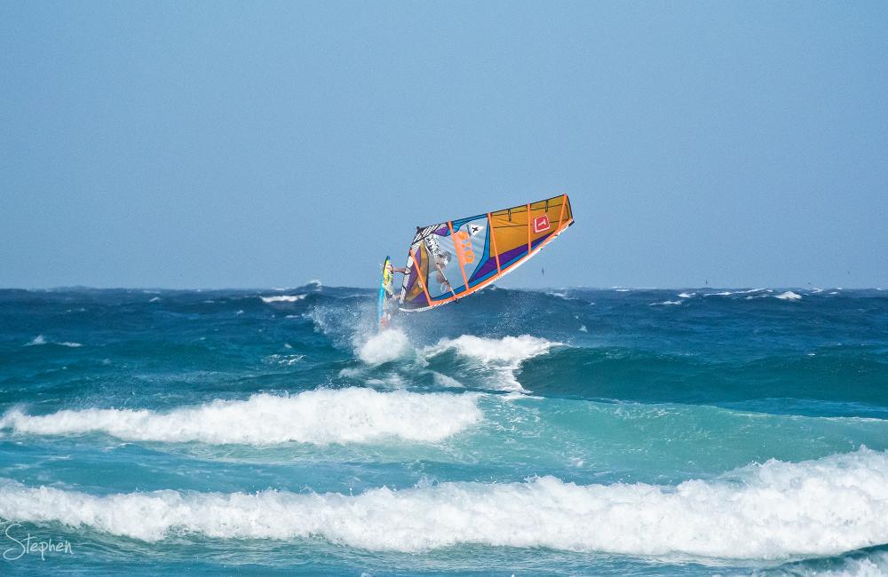 Windsurfing at Kianga Beach near Narooma