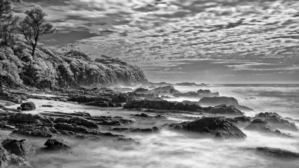 Infrared long exposure at Joshs Beach Dalmeny