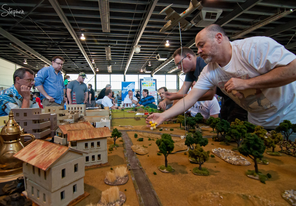 War gaming miniature world set up at Cancon