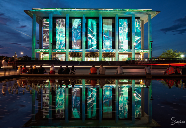 National Library digital canvas during Enlighten
