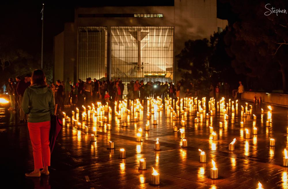 Enlighten Fire Garden at High Court of Australia