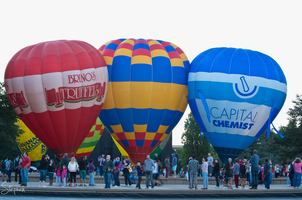 Canberra Balloon Spectacular - ready for takeoff