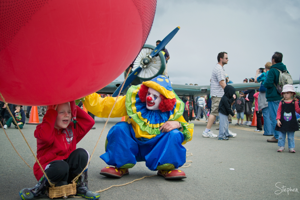 Milo the Clown at Canberra Airport Open Day