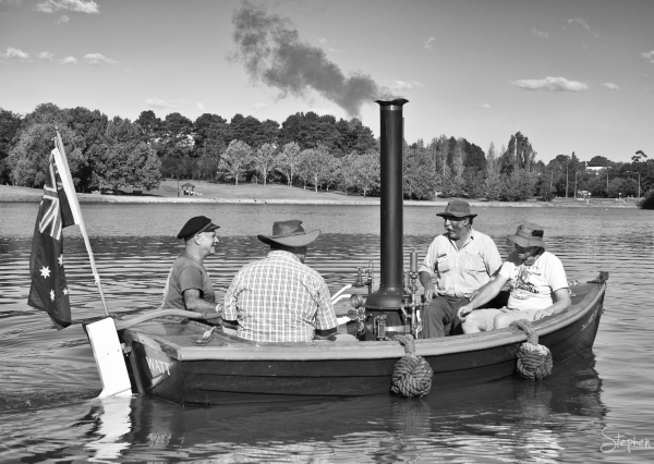 Steam powered boat at Canberra Classic Boat Fest