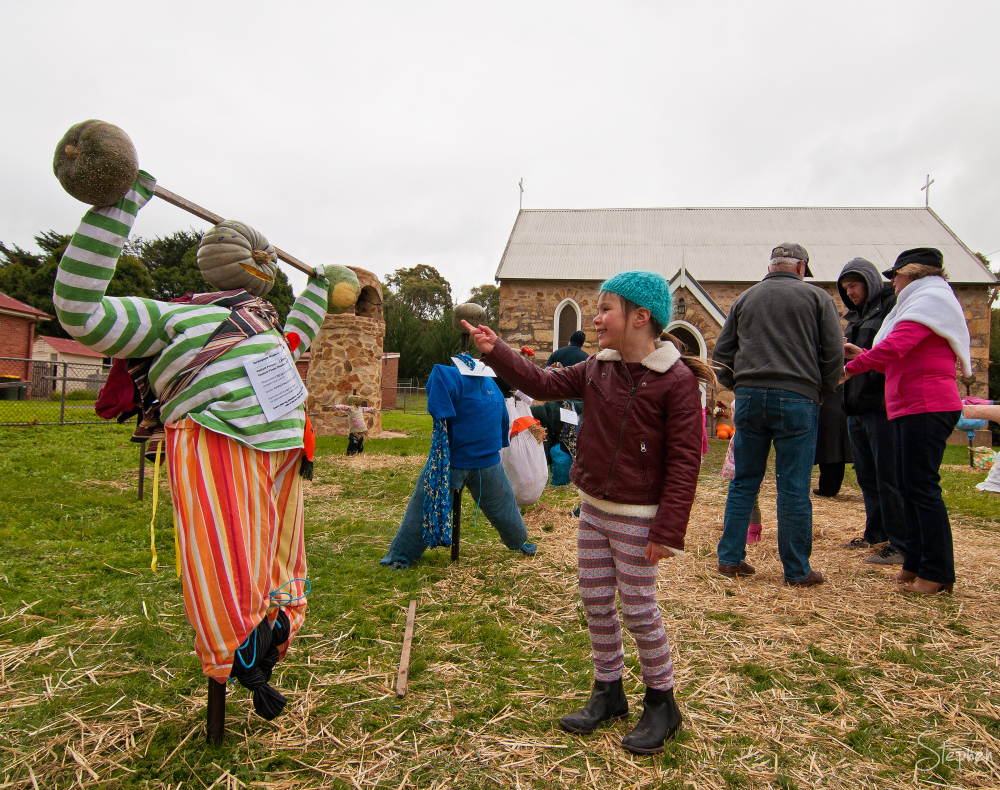 Scarecrow winner at Collector Pumpkin Festival