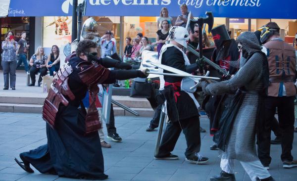 The Hundred Swords battle sports demonstration