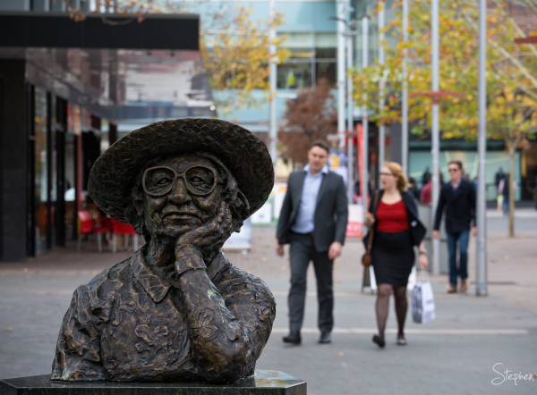 Poet's Corner in Garema Place in Civic