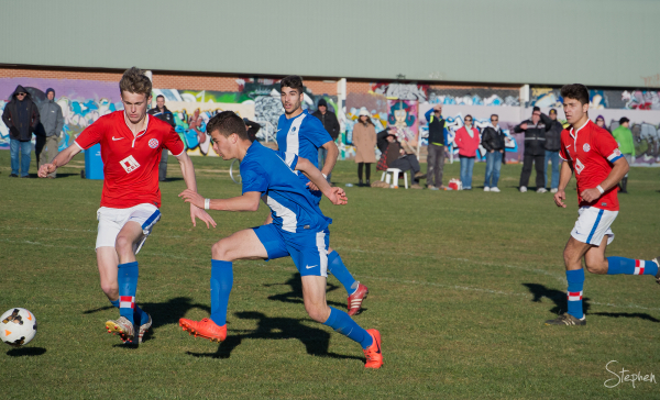 Action in the U18 final of the Kanga Cup