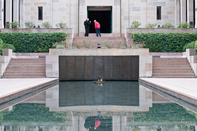 Pool of Remembrance at Australian War Memorial