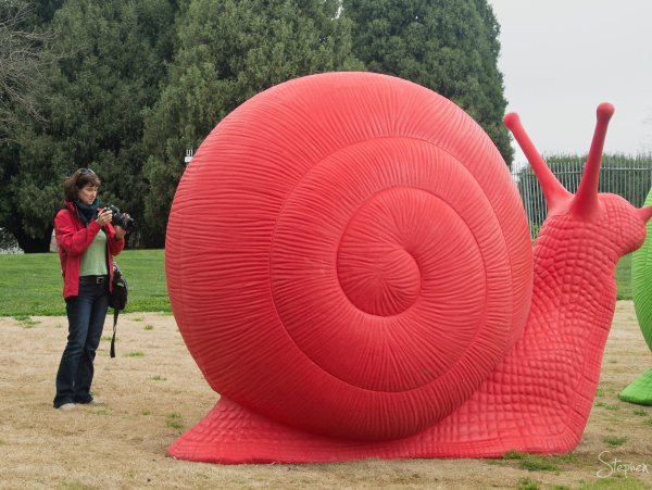 Snail sculpture at Floriade