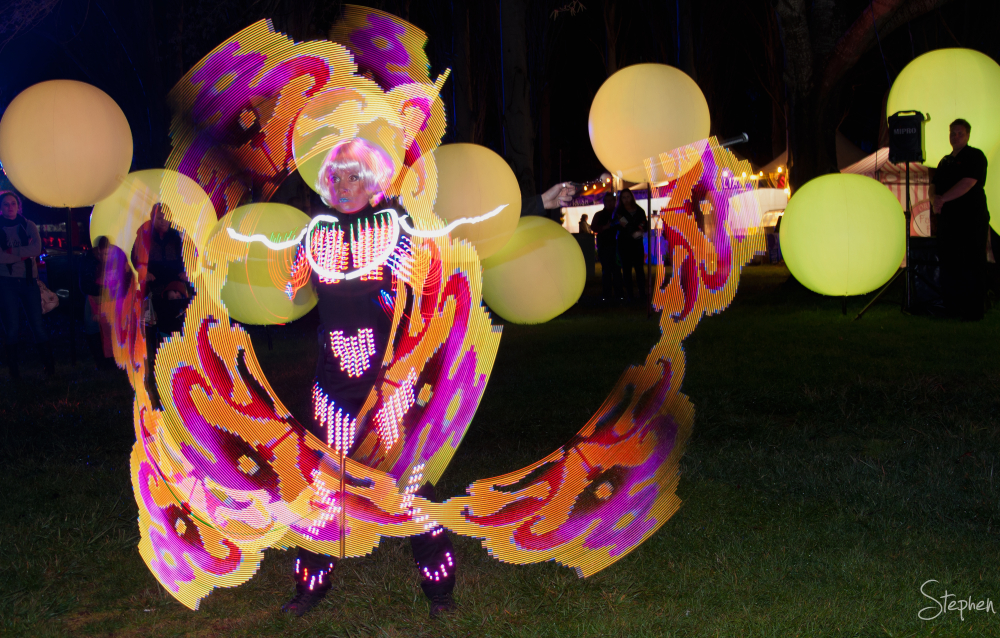 Lumiere glow circus act at NightFest