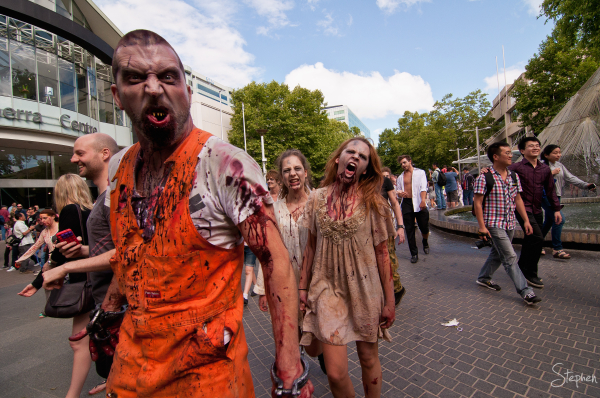 Zombie Walk in Canberra City