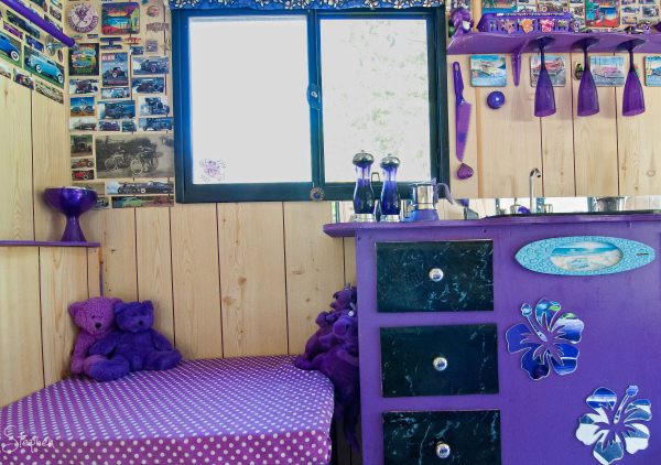 Inside Surf City campervan at Marques in the Park