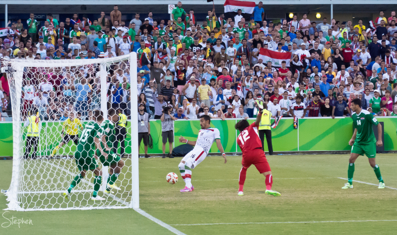 Iran vs Iraq in the Asian Cup at Canberra Stadium