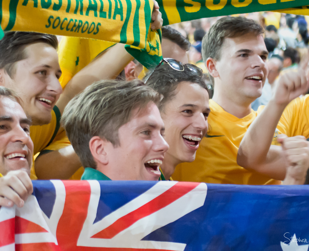 Socceroos fans at Asian Cup Final in Sydney