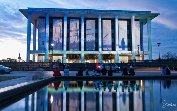 National Library of Australia lit up for Enlighten