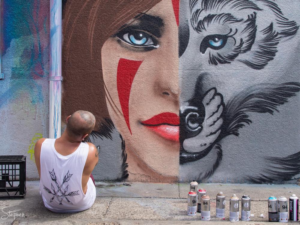 Street art in Tocumwal Lane