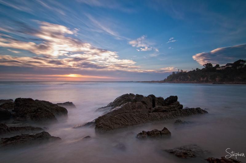 Sunrise at Joshs Beach at Dalmeny