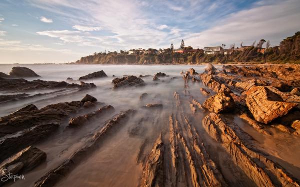 Early morning at Joshs Beach at Dalmeny