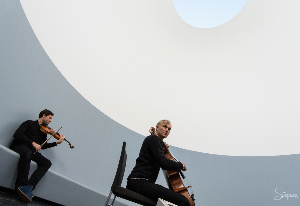 The NOISE perform in the James Turrell Skyspace